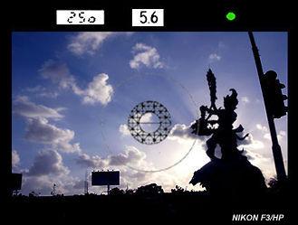 尼康F3取景器信息,照片在交通枢纽,印度尼西亚巴厘岛