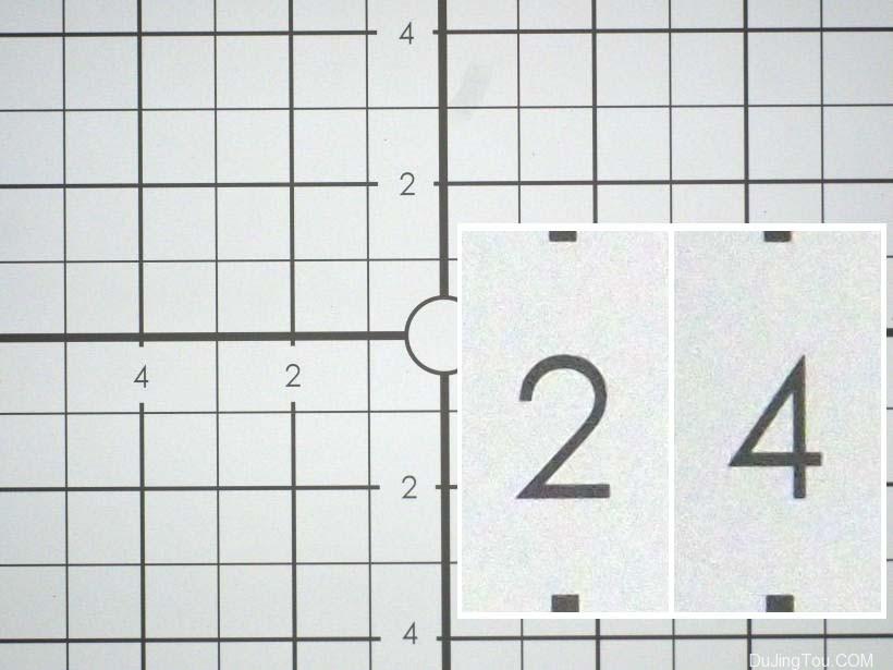 尼克尔(Nikkor)扫描仪40毫米,2.2倍,缩小的框架。 插图:1:1像素的数字裁剪。