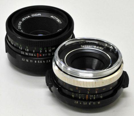 Carl Zeiss Jena TESSAR 50mm/F2.8 and Carl Zeiss Oberkochen TESSAR 50mm/F2.8镜头评测及测试