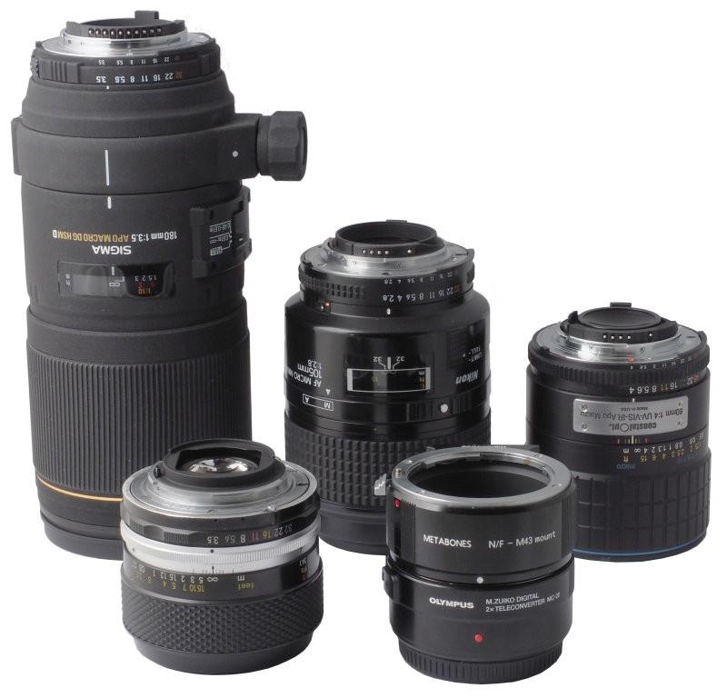 带微距镜头的Olympus MC-20增距镜