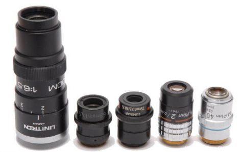 显微镜头测试第2部分: Unitron变焦0.7-4.5x 蔡司Luminar 63 mm f / 4.5 蔡司Luminar 25 mm f / 3.5 Nikon Plan 2x显微镜物镜 Nikon M Plan 40x ELWD显微镜物镜