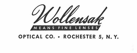 Wollensak光学公司历史以及电影镜头列表