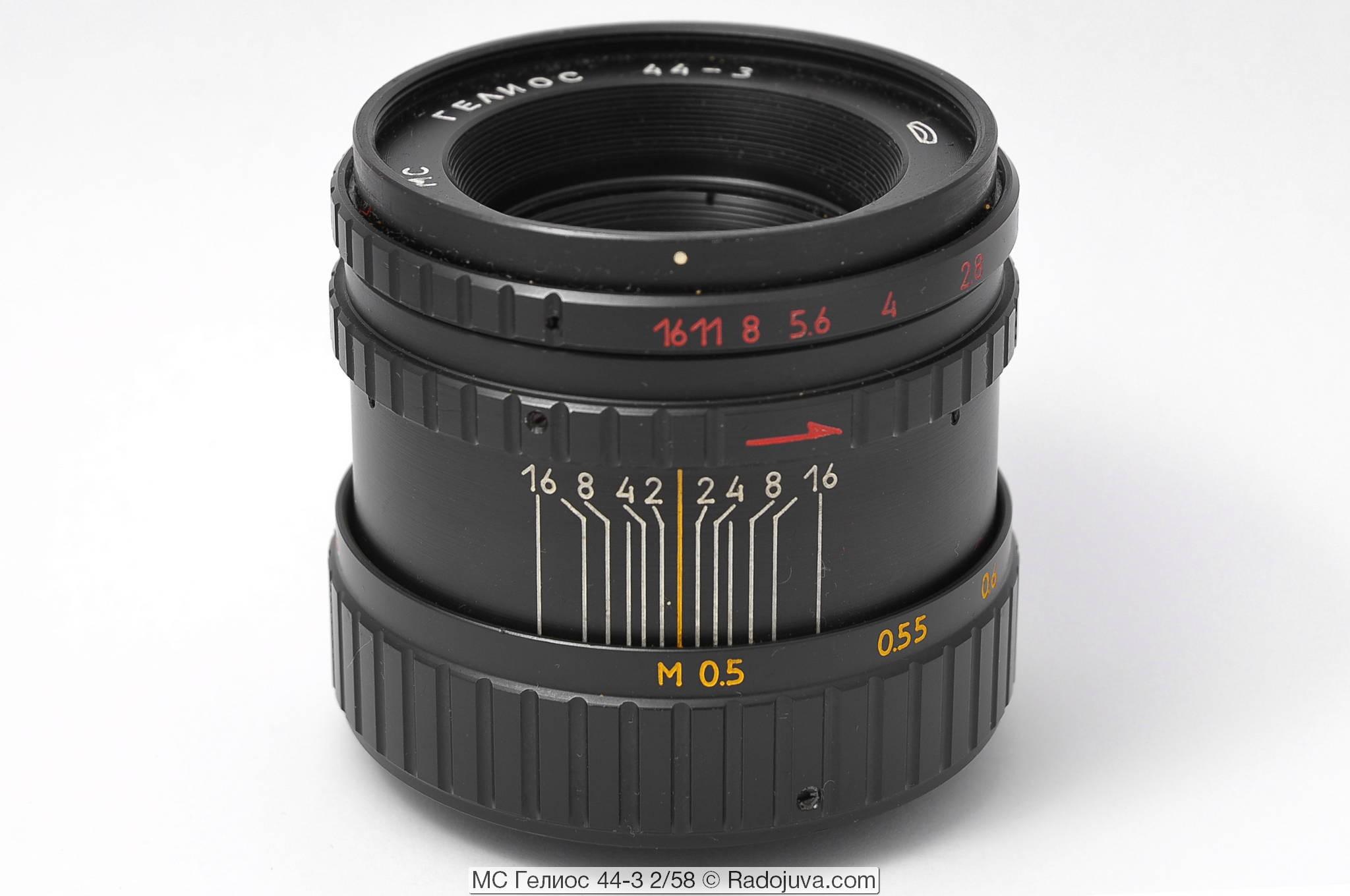 苏联镜头: Helios 44-3 2/58 MS MMZ, 8 光圈版